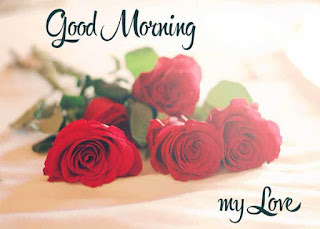 Good Morning My Love Image with Roses for Boyfriend