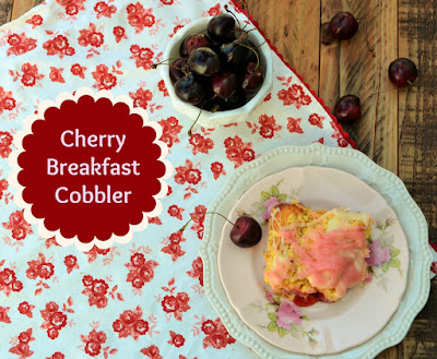 Mother's Day Brunch - Cherry Breakfast Cobbler