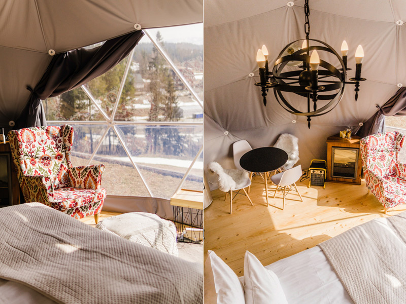 Luxurious glamping tents in Poland