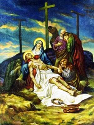 Viacrucis 13 - Jesus Es Bajado De La Cruz Y Colocado En Brazos De Su Santisima Madre