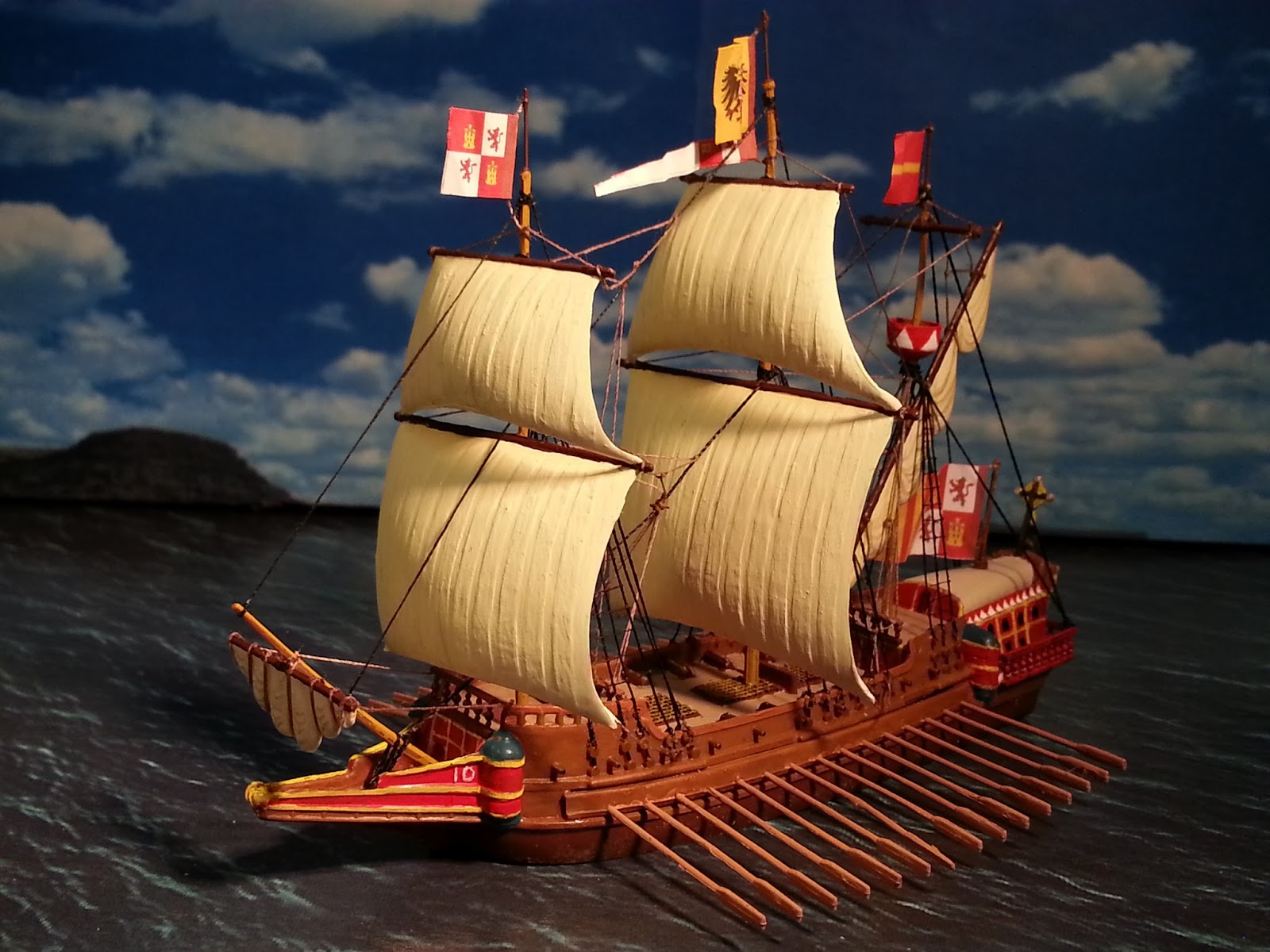 A Miniatures Hobby Room Revell 1 450 Spanish Galleon