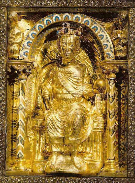 Othon I representado no sarcófago de Carlos Magno, Aachen