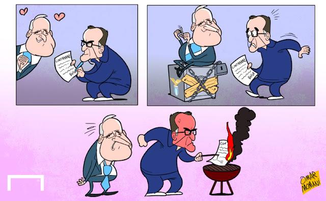 Marcelo Bielsa, Claudio Lotito Lazio cartoon