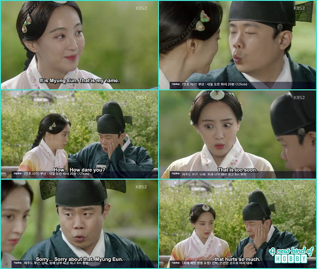 princess myung eun & officer jung funny kiss scene  - Love In The Moonlight - Episode 14 Review (Eng Sub) - park bo gum & kim you jung