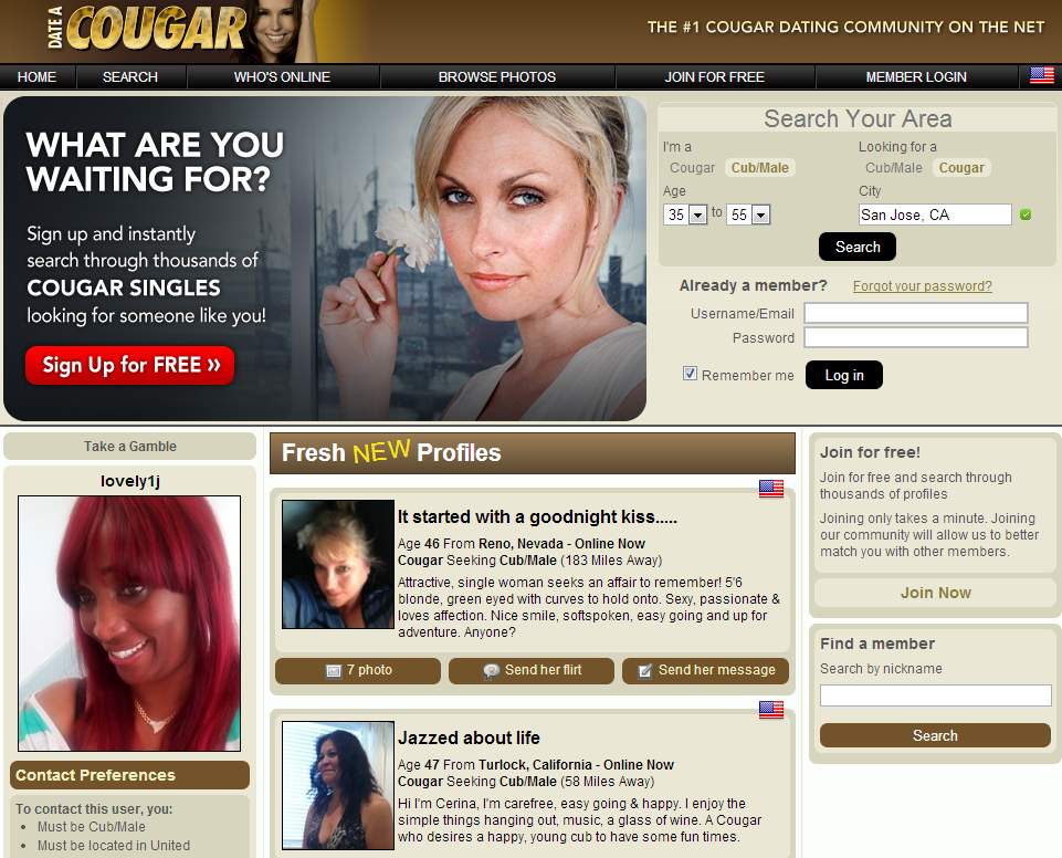 Top 10 kostenlose cougar-dating-sites
