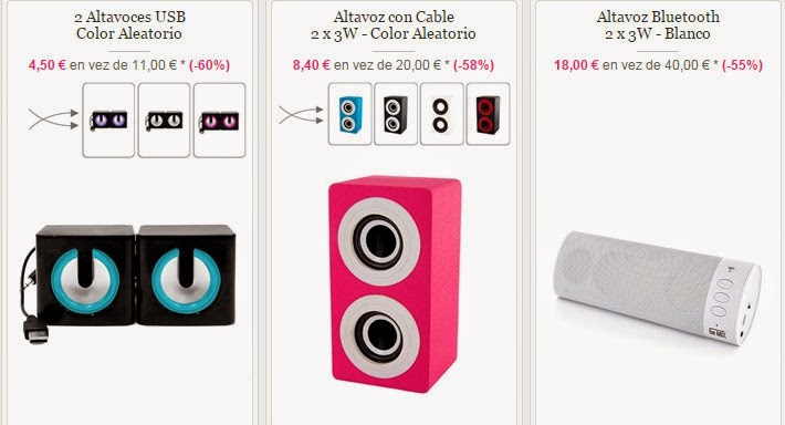 Altavoces para móvil, tablet, etc, por bluetooht en oferta