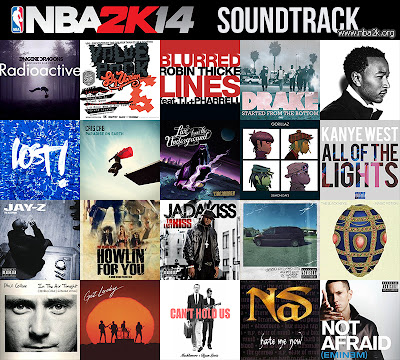 NBA 2K14 Soundtrack Songs Mod for NBA 2K13