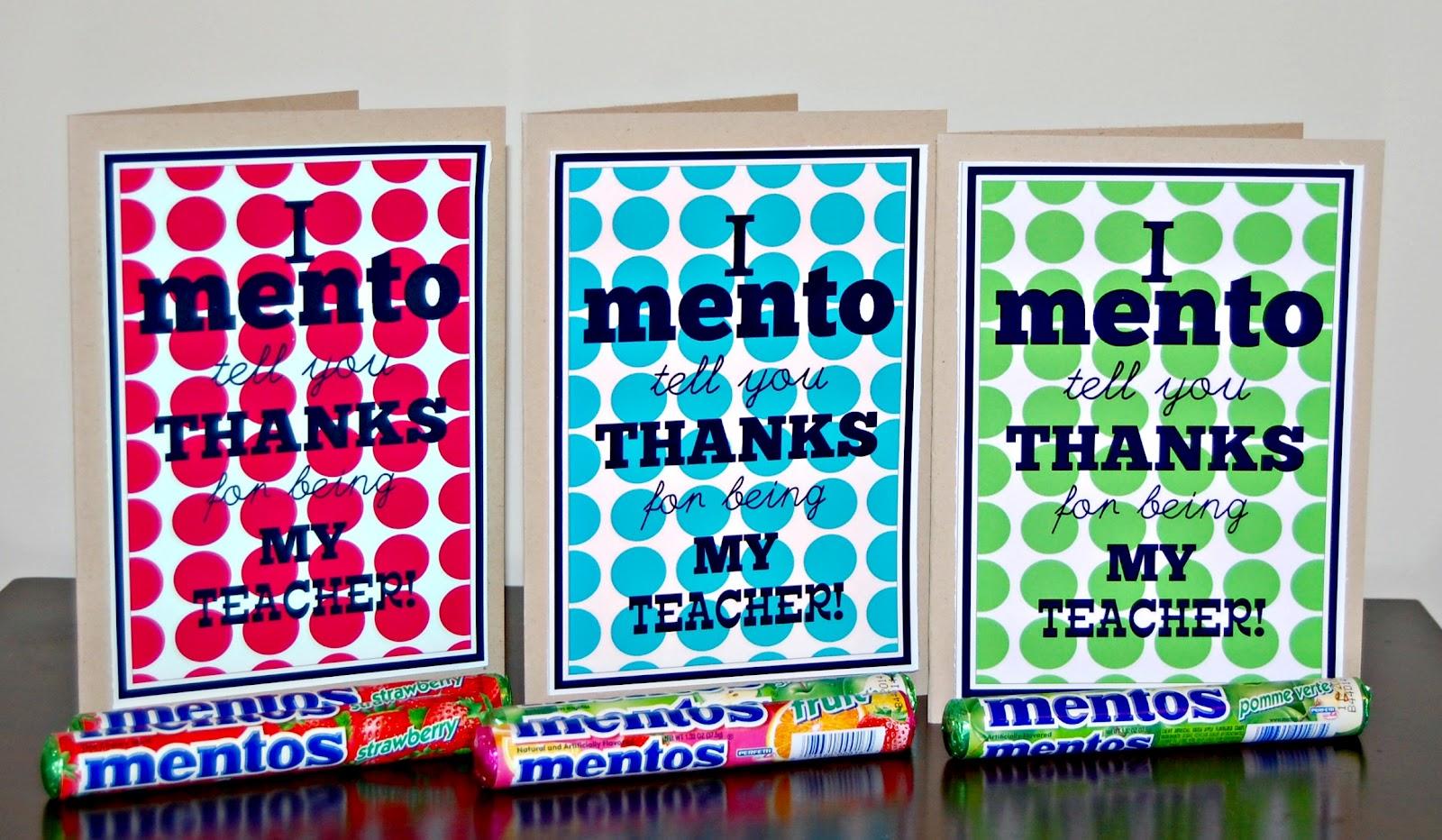 """I """"Mento"""" Tell You Thanks!"""