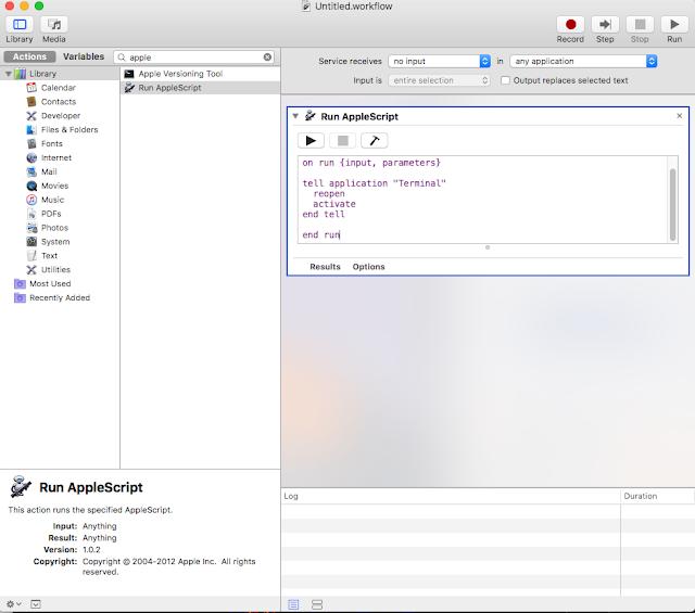 Hướng dẫn cài phím tắt bật terminal trên Mac OS