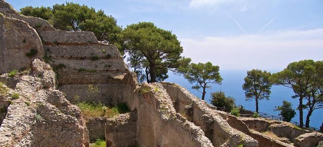 Villa Jovis na Ilha de Capri