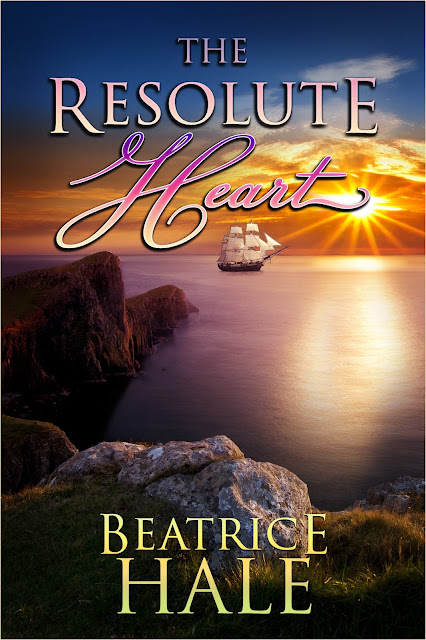 The Resolute Heart by Beatrice Hale , Book Cover Graphic Design Kura Carpenter