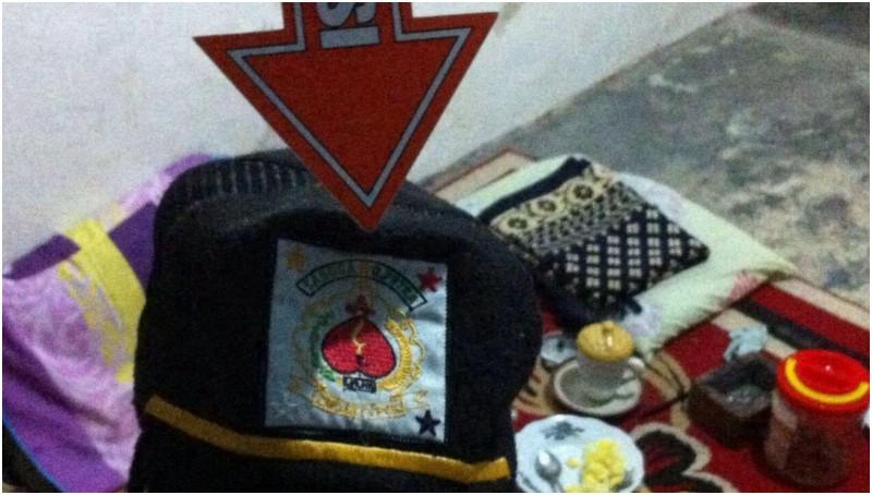 Topi yang disita saat mengamankan Abdul Muhjib
