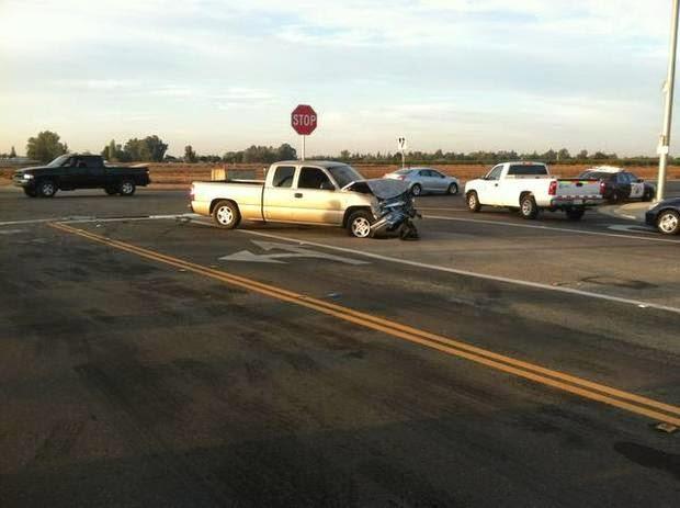 clovis school bus pickup truck crash fresno shields locan avenues