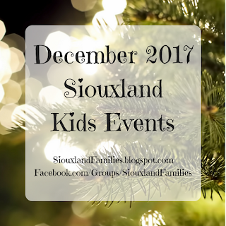 December 2017 Siouxland Kids Events
