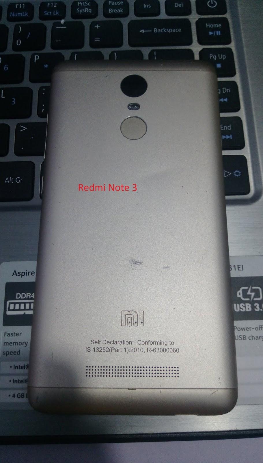 Mi Readmi Note 3 R-63000060 Flash File 100%Free Download Mi