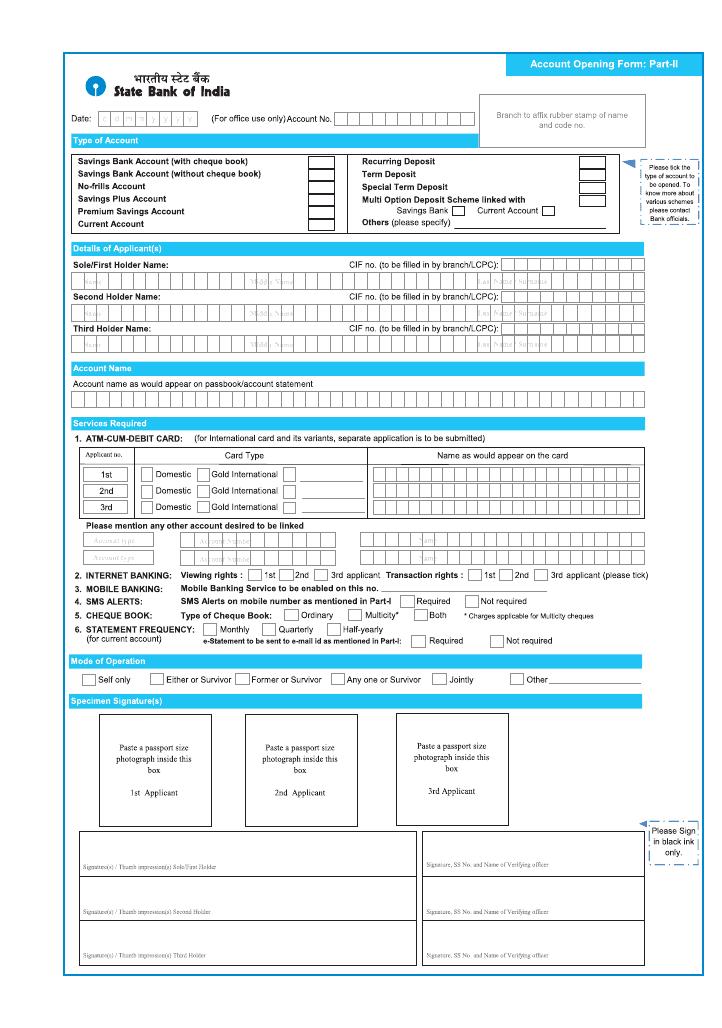 onlinesbi form.com