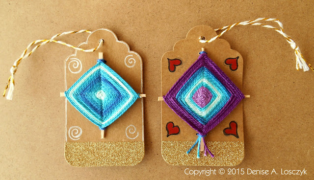 2 Gods Eye Gift Tag Ornaments