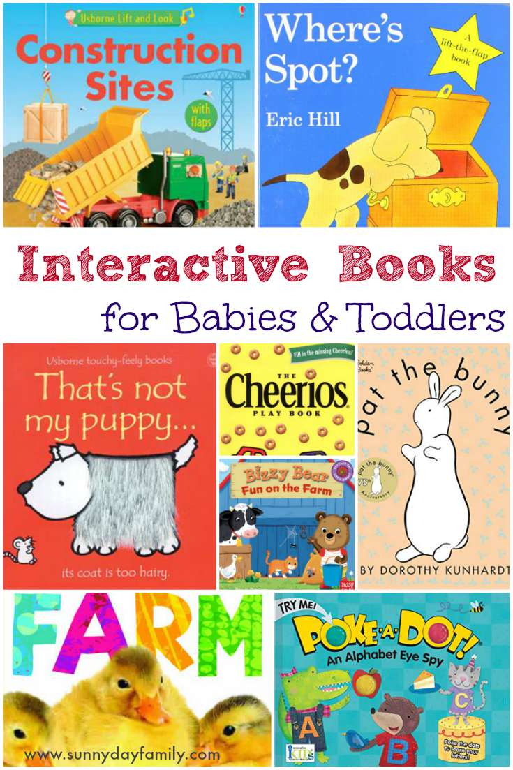 Our favorite interactive board books! Babies and toddlers love these books with fun textures to touch and play!