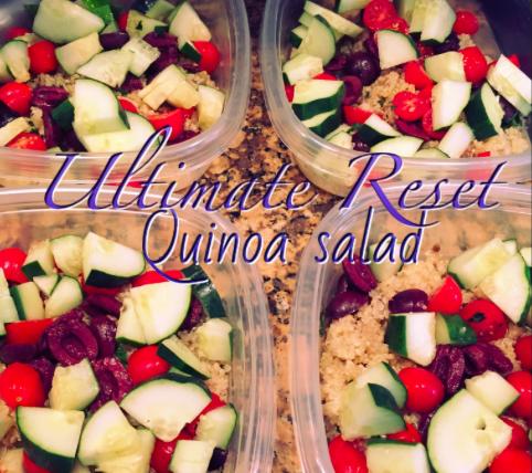 quinoa, quinoa salad, ultimate reset, summer salad,