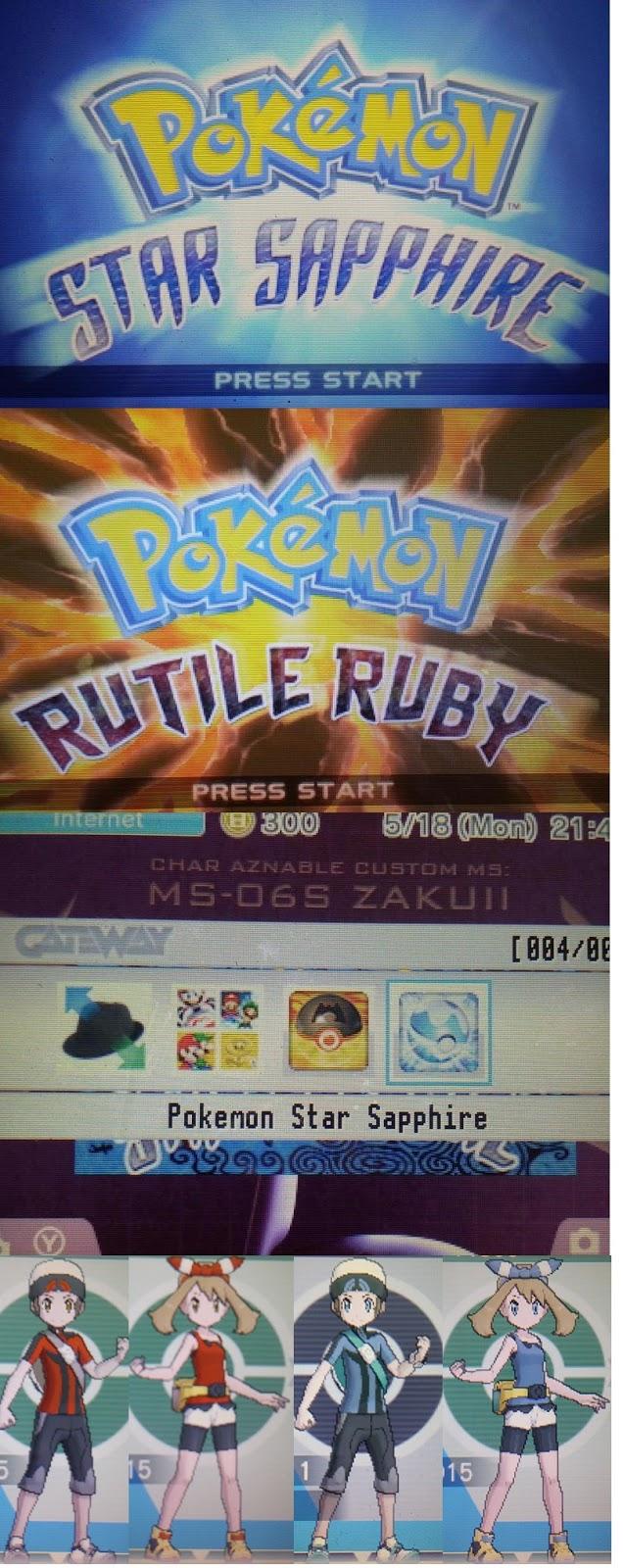 Pokemon Rutile Ruby & Star Sapphire