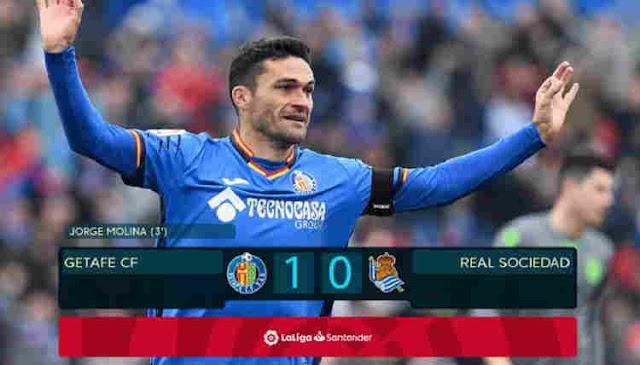 Hasil Getafe vs Real Sociedad 15 Desember 2018