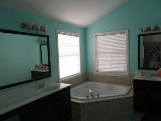 Painting a master bathroom in Walpole Ma.