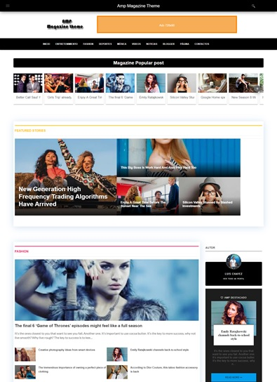 AMP MAGAZINE THEME - PREMIUM VERSION