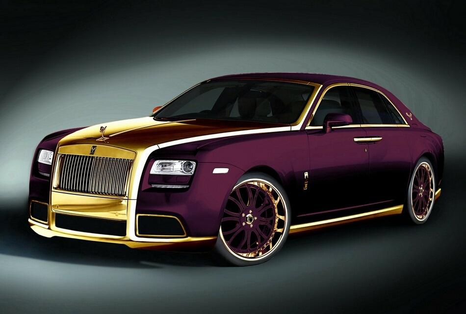 "Rolls Royce Phantom Best Luxury Cars: 2012 Rolls-Royce Ghost ""Paris Purple"" Luxury Gold Car"