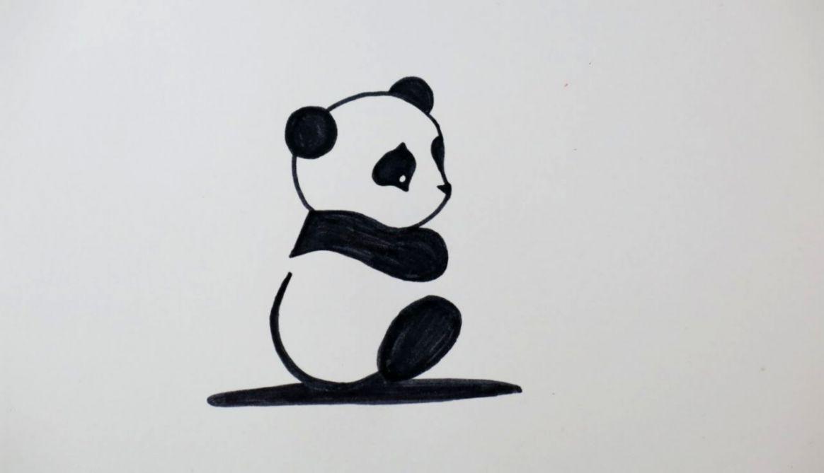 Cute Panda Drawings For Kids | Wallpapers Point
