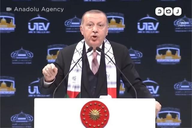 Erdogan Serukan Dunia Bersatu Merdekakan Palestina