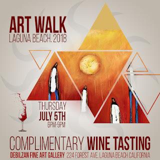Complimentary Wine Tasting At The Debilzan Gallery In Laguna Beach