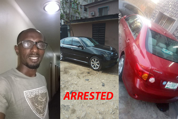 BREAKING NEWS!  Internet Marketer Nicholas Arrested By Sars Officers For Buying Two Cars Infiniti M35 And Toyota Corrolla Within 24Hours