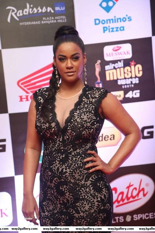 Mumaith Khan snapped at Mirchi Music Awards South