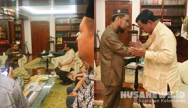 Allahu Akbar! Setelah UAS, Kini Ustadz Adi Hidayat Mentalqin Dzikir ke Dada Prabowo