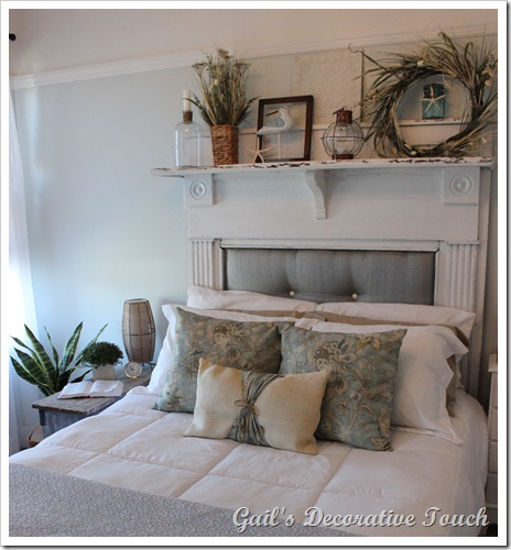 Creating A Beautiful Headboard From A Vintage Mantel