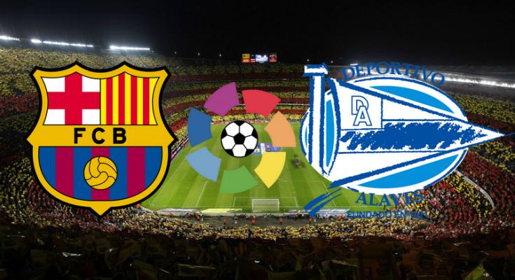 مباراة برشلونة وديبورتيفو الافيس بث مباشر