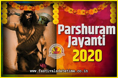 2020 Parshuram Jayanti Date and Time, 2020 Parshuram Jayanti Calendar