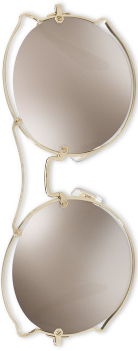 Miu Miu 57MM Wire-Trim Mirrored Round Sunglasses