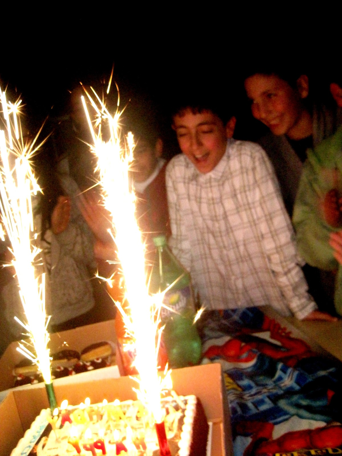 Three Words Exploding Birthday Candles