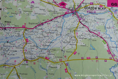 Mapa linii Gorzów Wlkp. Zieleniec - Kostrzyn