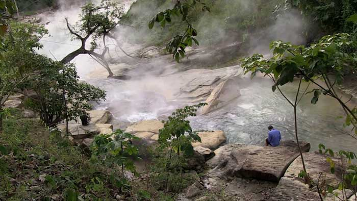 Boiling Amazonian river