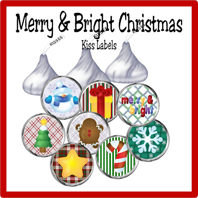 Bring a quick and easy treat to your next Christmas party with these easy Christmas kiss labels.  This free printable is easy to use and will decorate a bag of Hershey kisses in no time to let you be the hit of the party when you bring yummy Christmas chocolate.