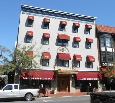 James Getty Hotel in Gettysburg Pennsylvania