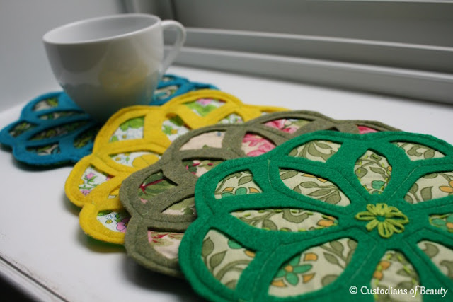 Vintage Trivets | DIY Coasters by CustodiansofBeauty.blogspot.com