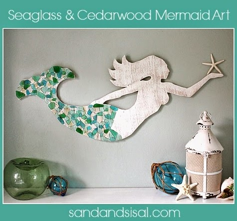 Make a Wood Mermaid for Wall Decor - Completely Coastal