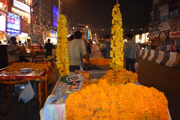 Diwali and flowers