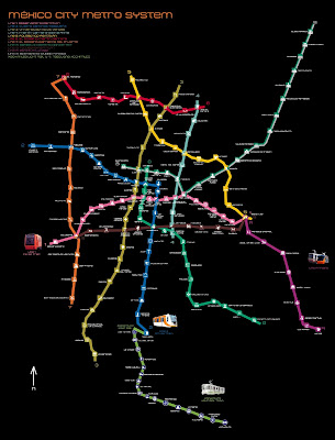 Map Of The Week Map Of The Week Mexico City S Subway Station Icons