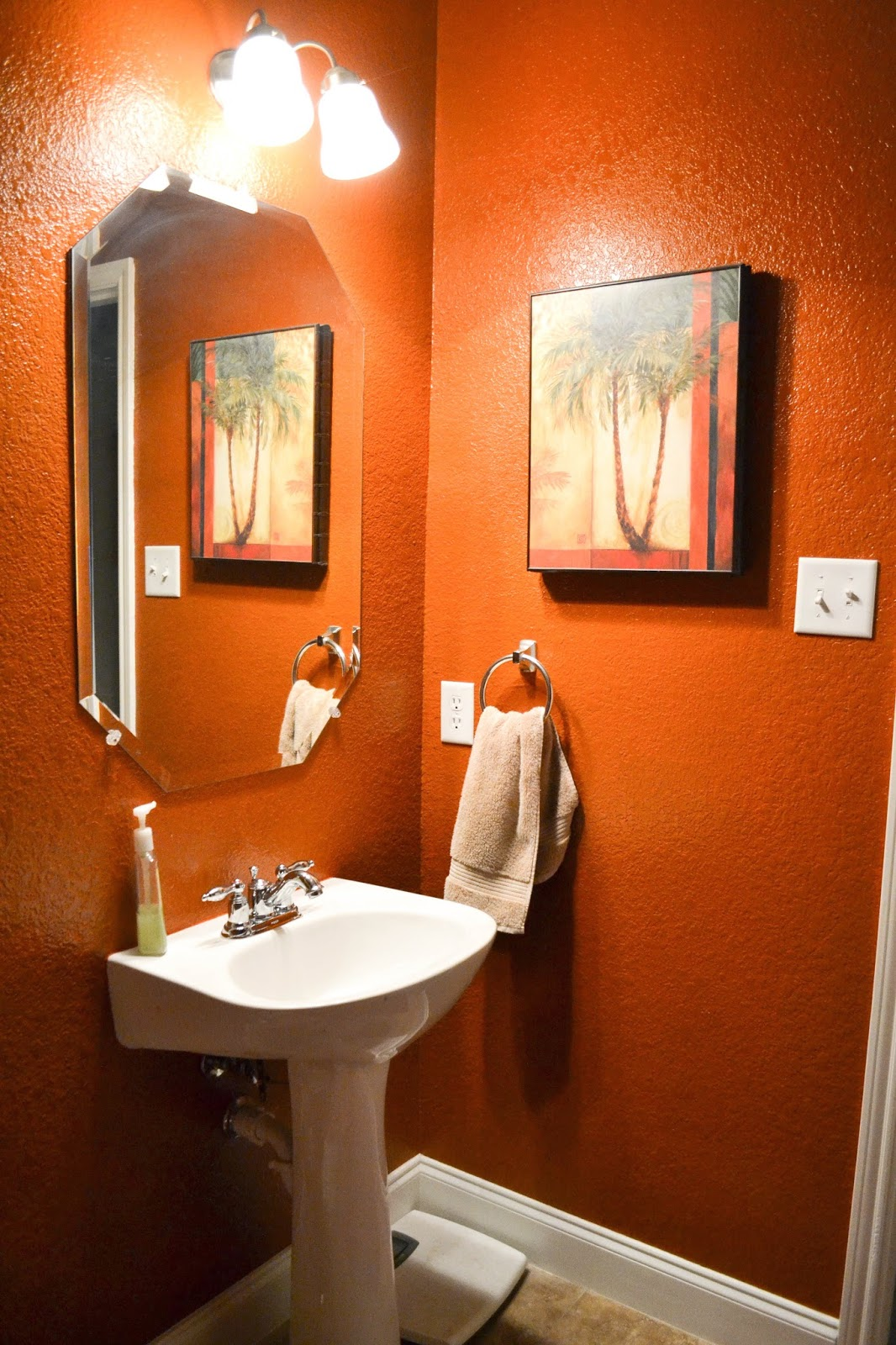 colors for small bathroom walls our and our blessing time was up for burnt orange 22954