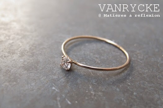 Nouvelle bague solitaire Vanrycke King One