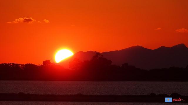 puesta de sol en Trapani Sicilia tramonto